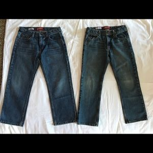ARIZONA Relaxed Straight Leg Jeans- Boys 10 Husky